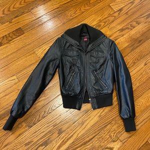 New Look Vegan Leather Moto Jacket S